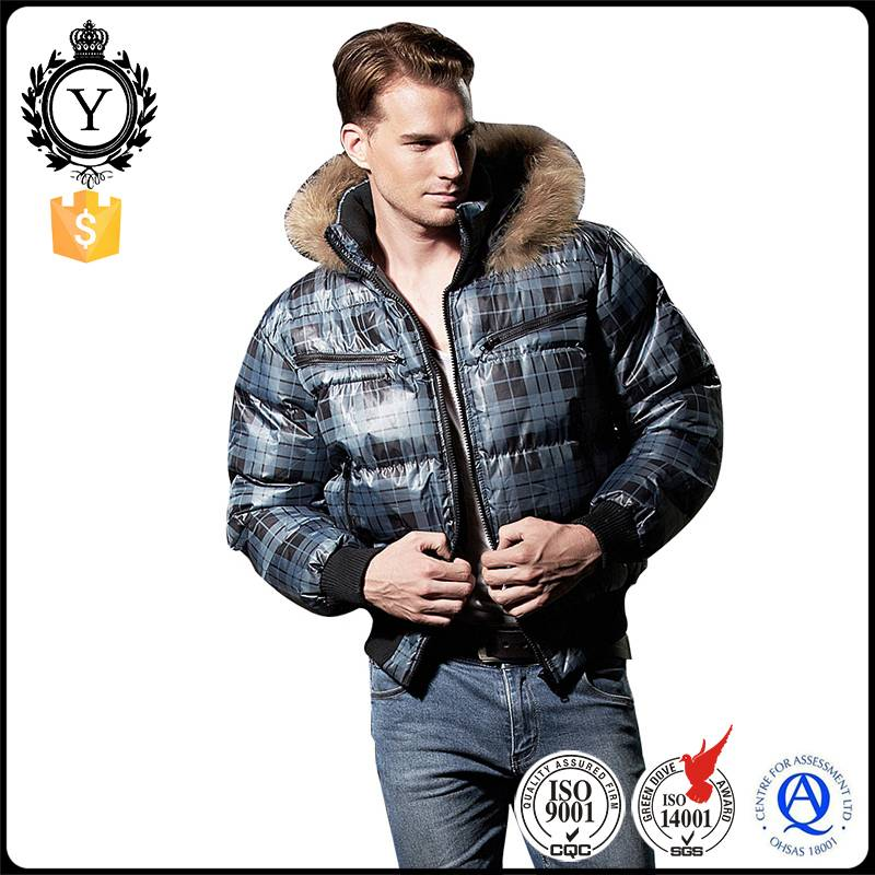2016 COUTUDI new premium best qualified windbreaker fur hooded warm mens down filled coats