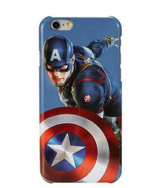Accept Custom Order Case for Iphone 6 6s Captain America Shiled