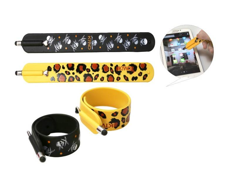 fashion stylus slap wristband pen/Convenient Silicon bracelet Stylus Pen for halloween gift/c