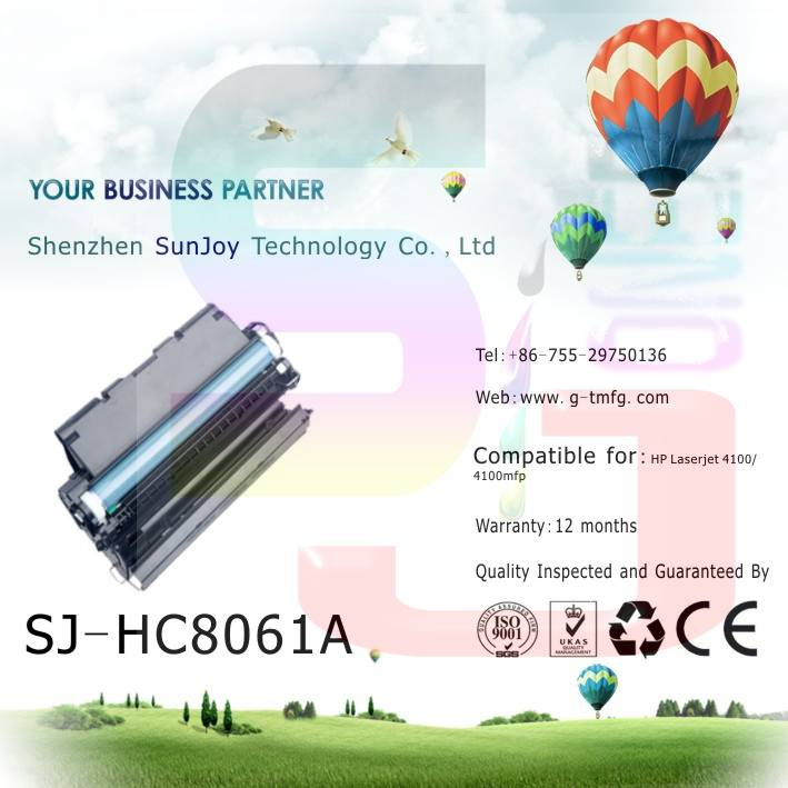 Sunjoy 61A toner cartridge C8061A compatible for HP Laserjet 4100 4100mfp