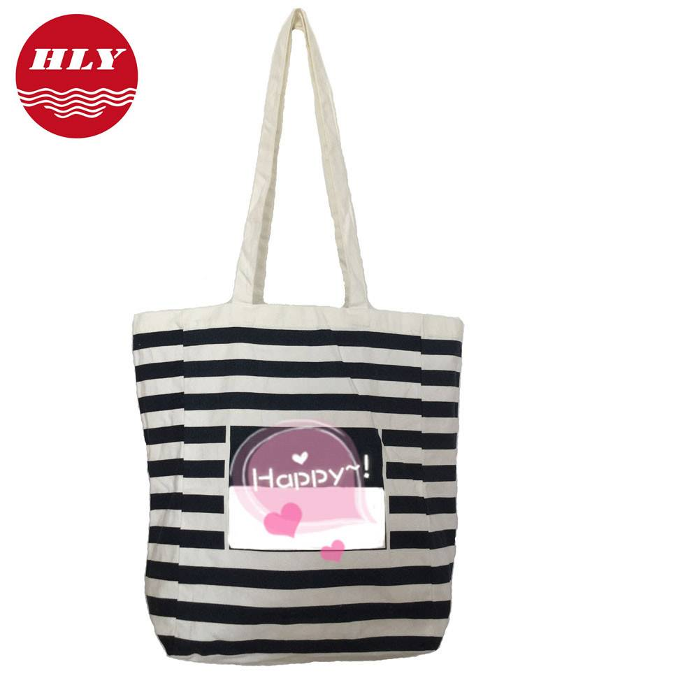 Natural cotton shopping bag with Zebra line