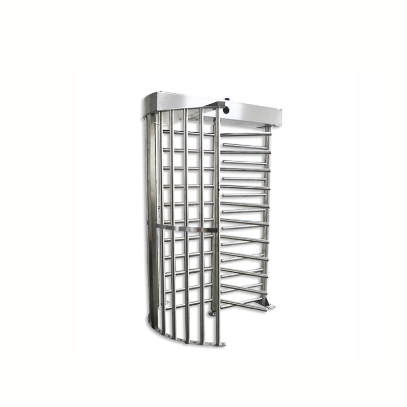 120 degrees access control system stainless steel full height turnstile
