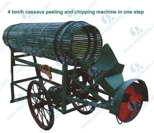 4ton/h cassava peeler and chipper(Model:SQPC-4)