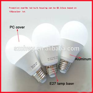 New!led bulb aluminum housing with CE RoHS certificate,2 years warranty