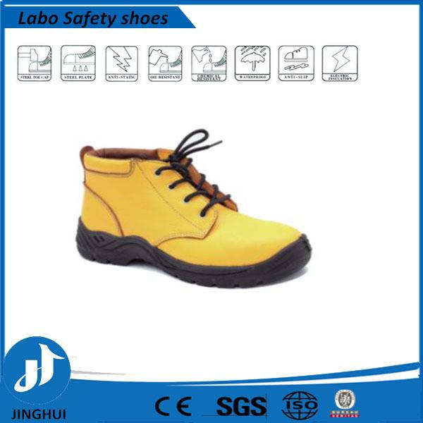 stylish yellow protective steel toecap safety leather shoes,safety boots
