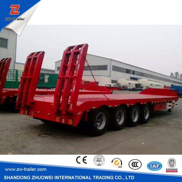 3 Axles 13m Heavy Duty low bed trailer for Sale