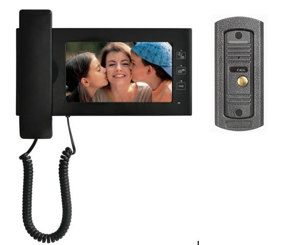 vídeo porteiro 7inch color handfree video door phone JS-S722E1