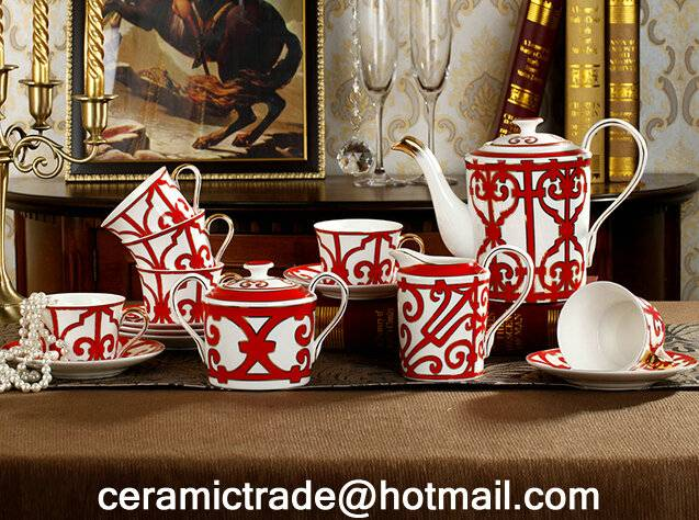 Fine Bone china coffee set ceramic coffee cups and saucers Tea set