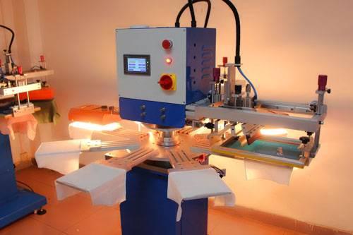 2 color rapid rotary t-shirt screen printing machine