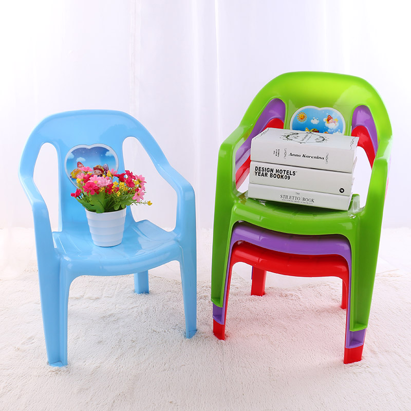 Anti-slip stackable children plastic chair
