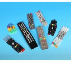 Silicone rubber remote control keyboards, keypads, keys and buttons