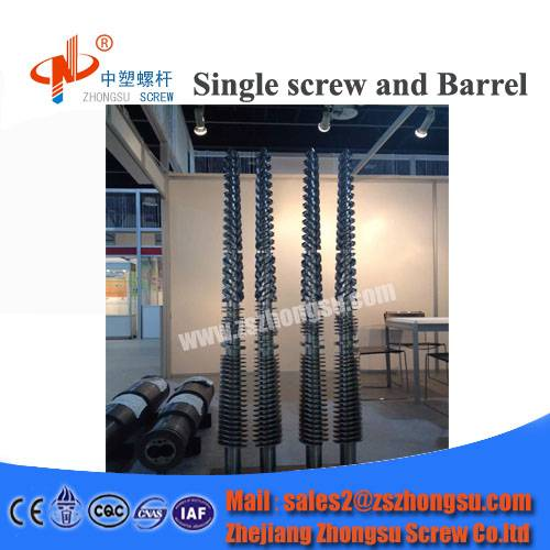 plastic film blow molding conical twin screw barrel