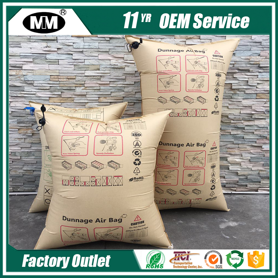 Container shipping manufacturer Kraft Paper air dunnage bag