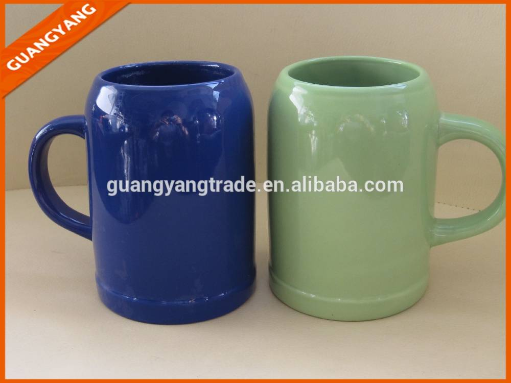 2015 high quality ceramic stoneware beer mugs