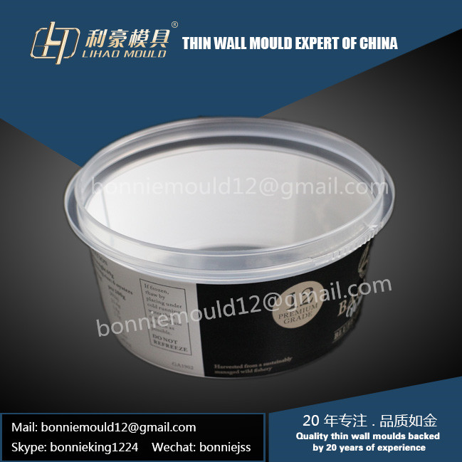 ice cream container mould with IML system manufacturer