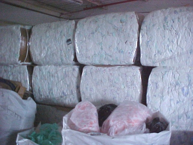 Rejected Diapers in Bales