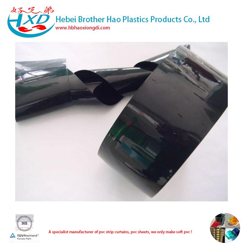 Opaque Black 2mm Thick Vinyl PVC Strip Curtain Roll