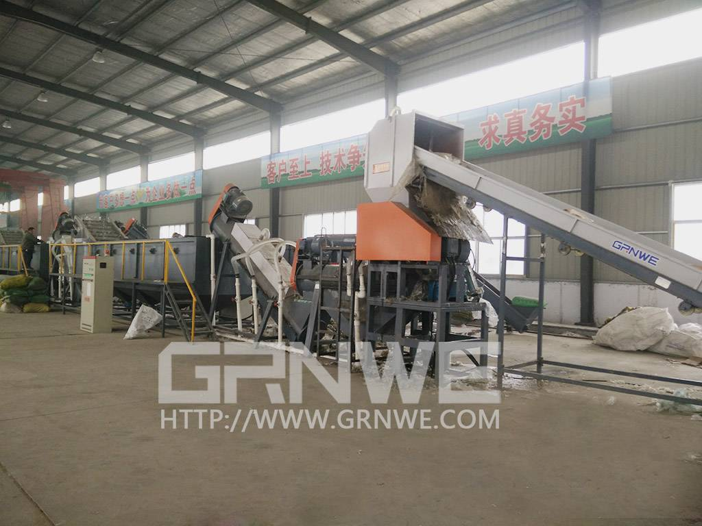 Hot selling pp pe film washing recycling line