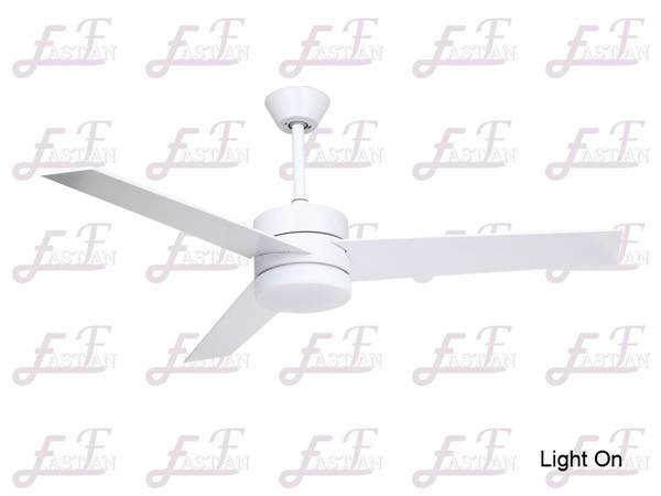 East Fan 52inch Indoor Ceiling Fan with light item EF52132A white ceiling fans
