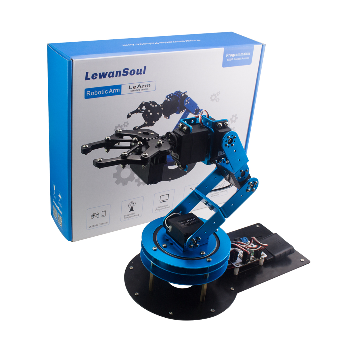 6-DOF Mechnical Arm with Controller PS2 Wireless Handle /Flexible educational robotic arm