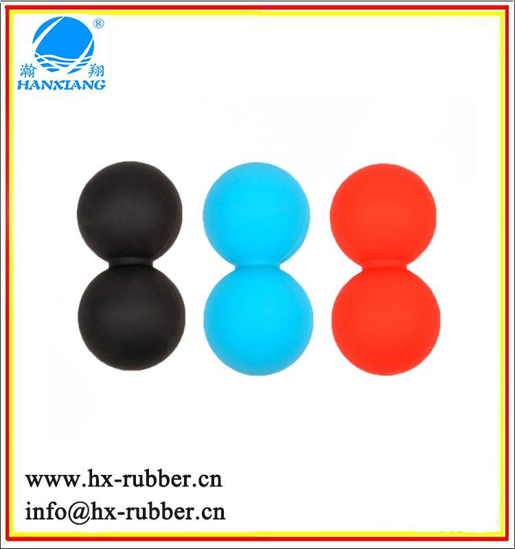 Silicone lacrosse balls/massage roller double ball
