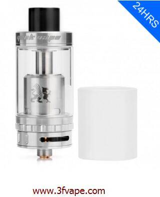 AUTHENTIC GEEKVAPE GRIFFIN 25 6ML RTA REBUILDABLE TANK ATOMIZER - SILVER, STAINLESS STEEL + GLASS, 2