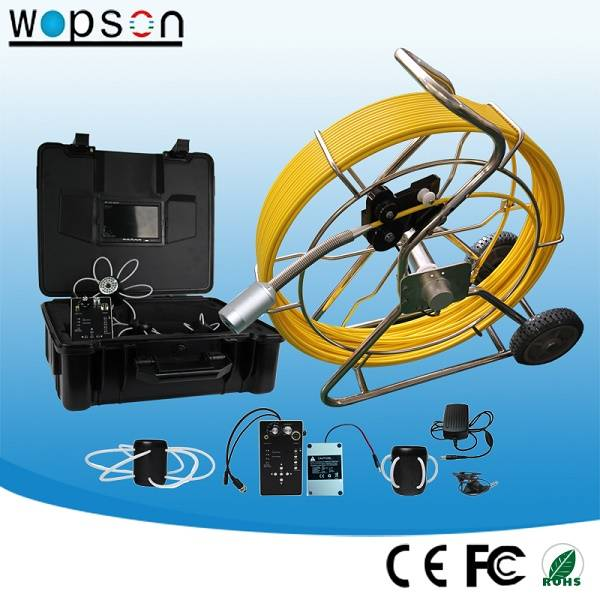 50mm Self-Level Push Rod Cable Camera System for Video Inspection Camera