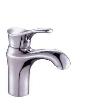 ceramic cartridge chrome basin taps single handle copper faucet