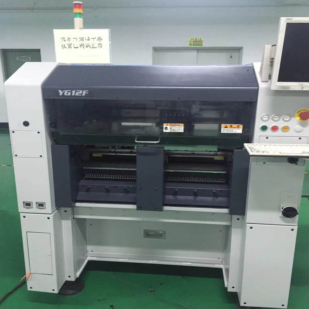 Yamaha YG12F pick and place machine SMD chip shooter with tray stacker for sale