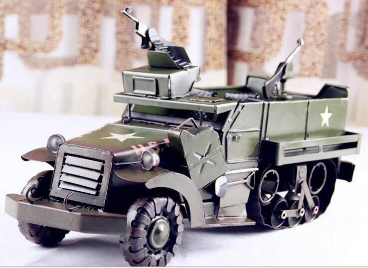 tinplate army car model