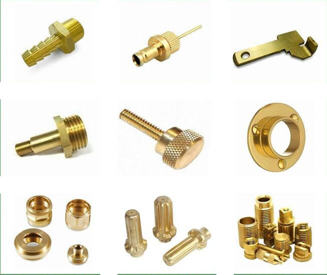 customized cnc machining parts brass material parts