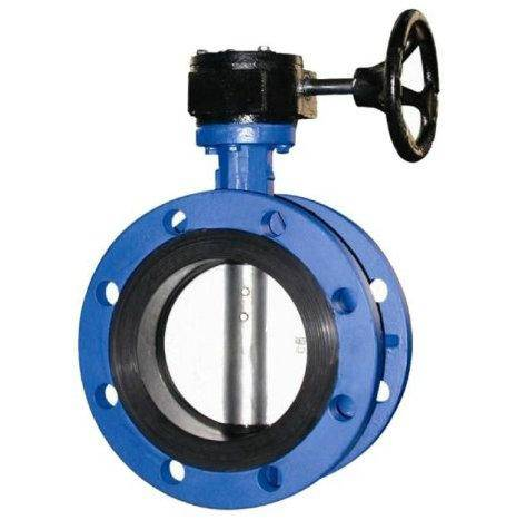 Double flanged soft seated concentric butterfly valve