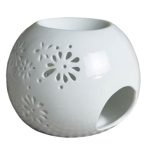 White Ceramic Oil Warmer