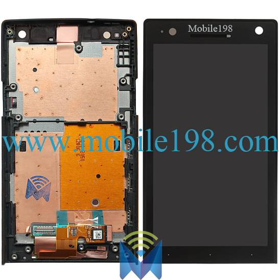 for Sony Xperia S LT26I LCD Screen Display with Digitizer and Front Housing