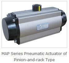Rotary valve pneumatic actuator