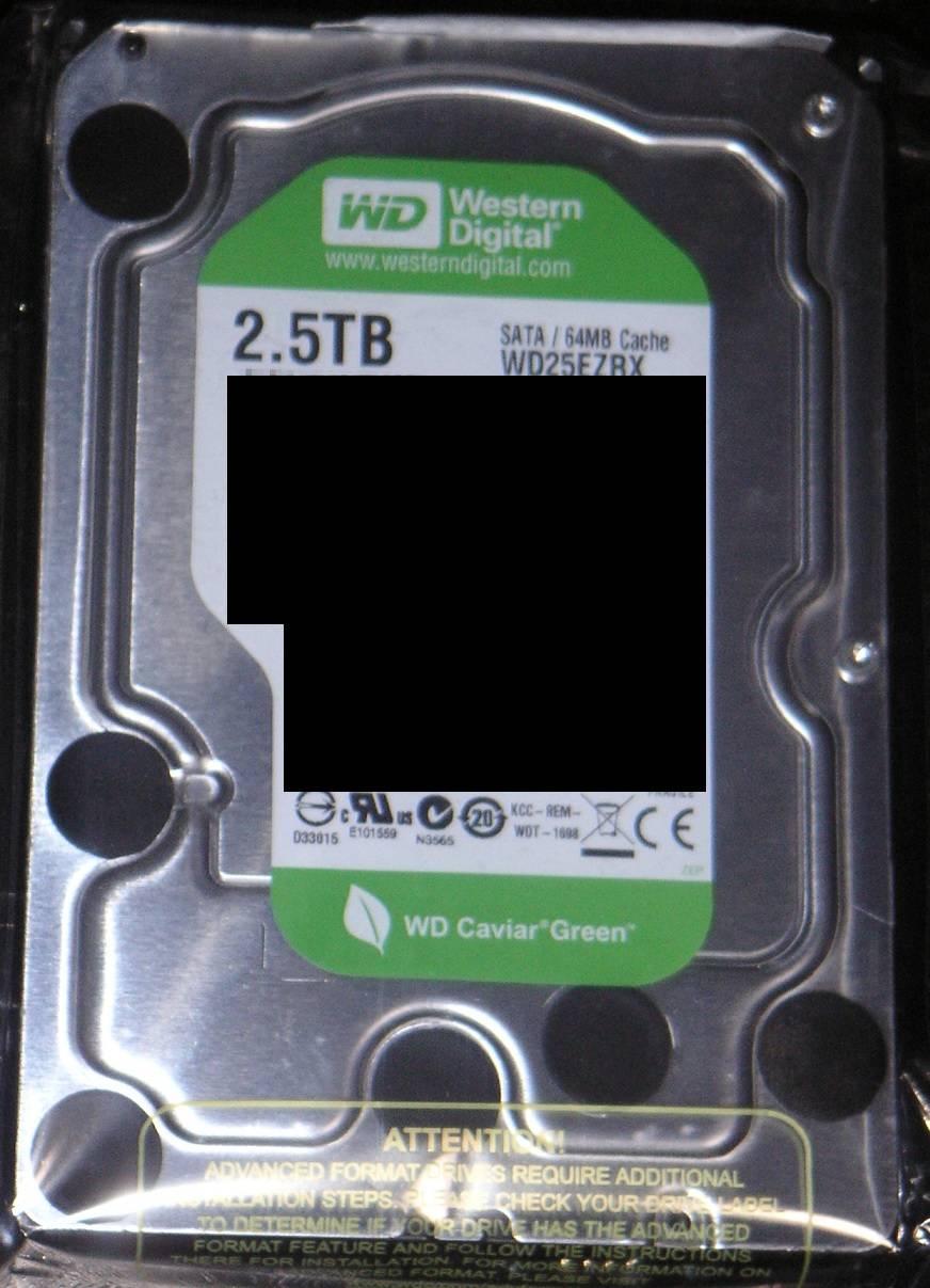 WD WD25EZRX 2.5TB Hard Drive FR