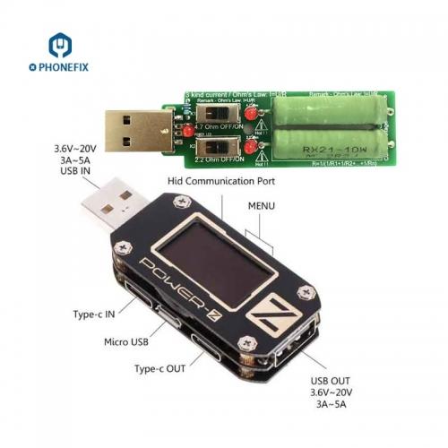 Type-C Micro USB Digital Voltmeter Multi-Function POWER-Z USB Tester