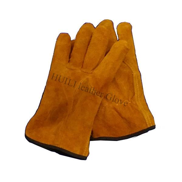 Cow skine leather driver gloves