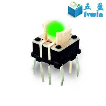 7x7mm bicolor led illuminated tact switch,led tact switch