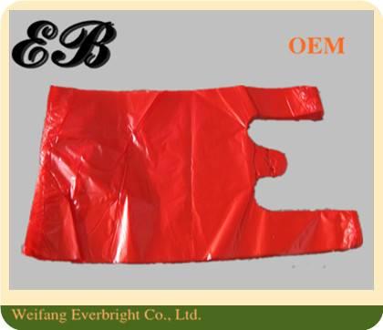 Customer Red T-shirt Bag,PE Packing/Shopping Vest Bag