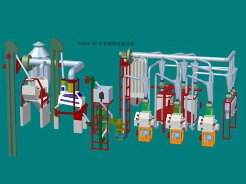 10mt per day corn milling machinery