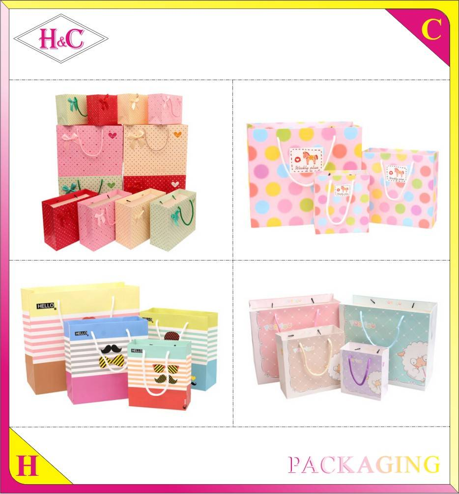 Manufacture Custom Fashion Handmade Advertising Promotional Paper Bag
