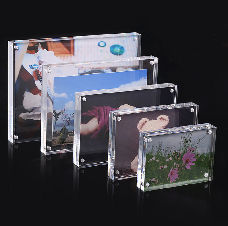 """China Supplier Wholesale 4x6"""", 5x7"""", 8x10"""", A4 Acrylic Magnetic Photo Frame for Home Decor"""