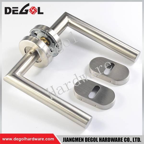 Custom stainless steel tube lever brass passage door handles
