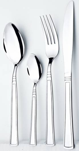 Stainless steel hotel cutlery set
