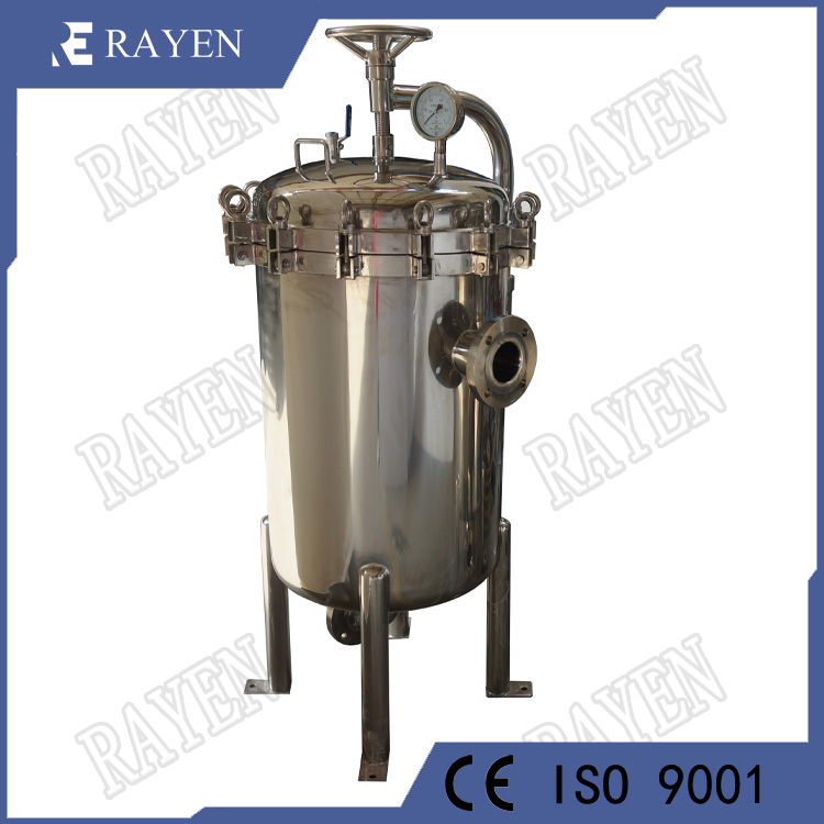 Stainless steel high flow filter liquid bag filter housing