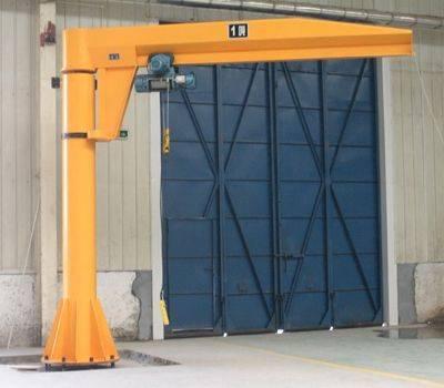 floor fixed column swing jib crane