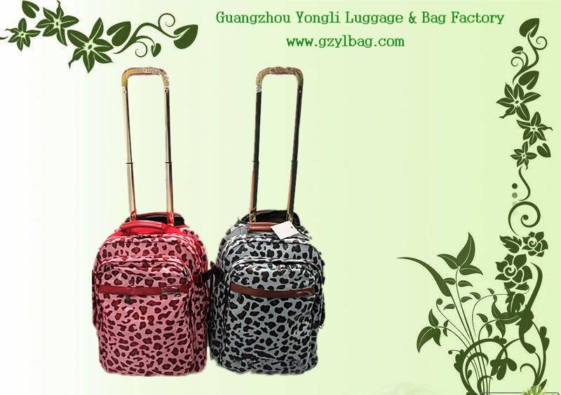 colorful dot trolley backpacks