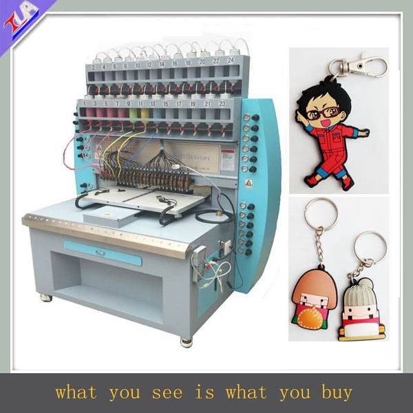 good quality and high speed pvc keychain making machine
