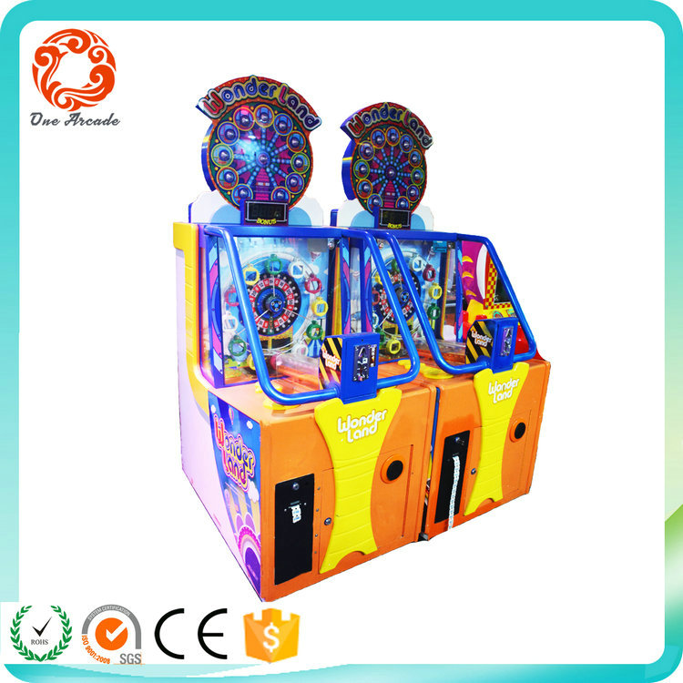 High Quality coin operated tickets redemption Wounder Land game machine